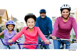family-riding-bicycles